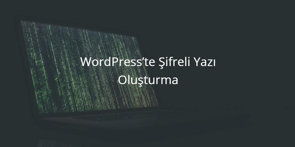 WordPress'te Şifreli Yazı Oluşturma